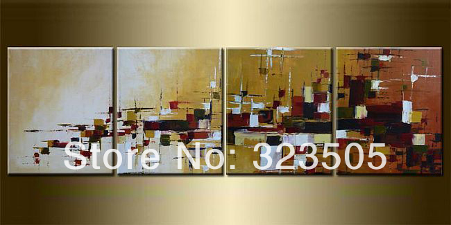 4 piece canvas wall art abstract large decorative font b knife b font oil painting on