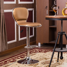 Simple bar chair  stylish velvet chair lift high chair bar stool