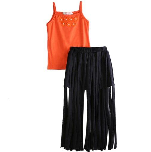 Летние оранжевые юбки