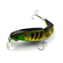 1PCS Jointed Fishing lure 10.5CM/15G Minnow plastic artificial fishing wobbler tools jerk fish esca tackle(China)