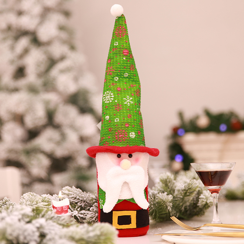 Christmas Wine Bottle Cover Bags Xmas Table Decoration Ornaments Clothes Decor