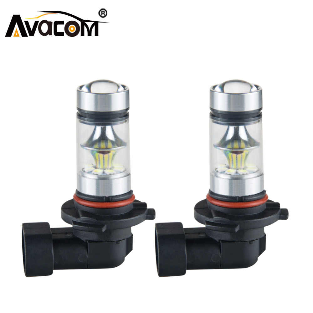 Avacom 2 Pcs LED H7 H11 H3 Car Fog Lights 12V 1200Lm 9005/HB3 9006/HB4 H8 H1 PSX24W 24V Auto Fog Lamp Daytime Running Lights