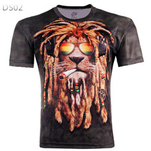 2017 High Quality Water Droplets Move Printed 3D T-shirts Punk 3D Short Sleeve T-Shirt M-4XL  style Men's T-Shirts