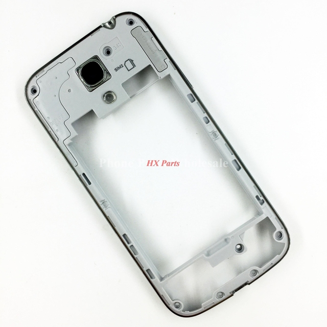 cb82f78f34f Para Samsung Galaxy S4 Mini I9190 I9192 I9195 nuevo medio chasis placa  bisel mediados vivienda marco