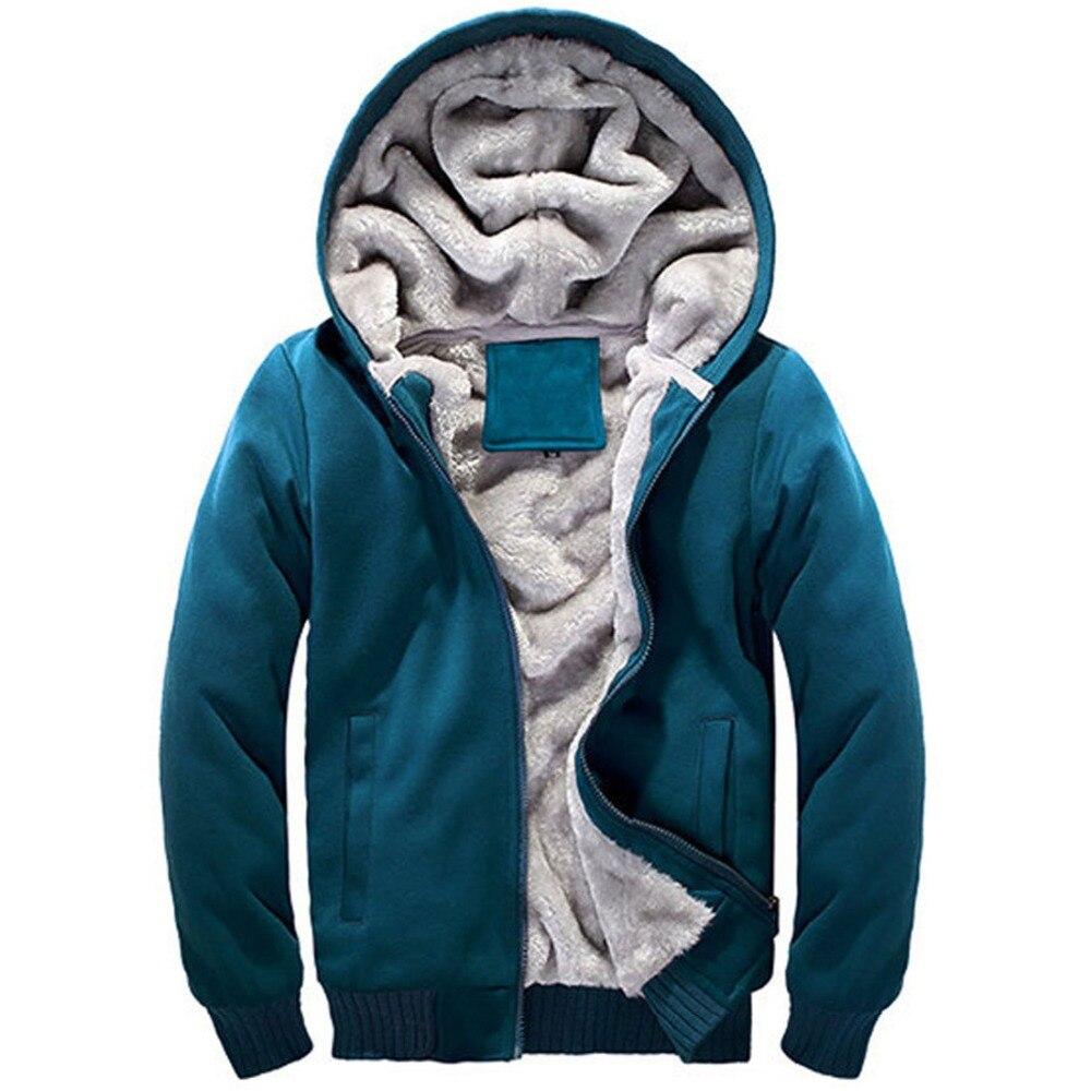 Mens Hoodies Tracksuit 2017 Winter Hoody Male Zipper Slim Outerwear Hoodie Sweatshirt Men Jacket Coat Warm