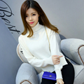 NEW Autumn and winter Women High collar Cashmere Blending Split Sweaters Knitted pullovers Slim bottoming  Wool Sweater Female