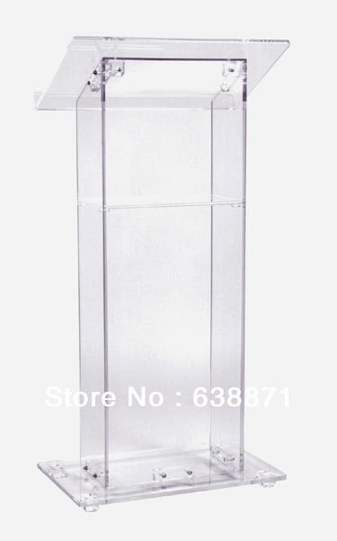Free Shipping Hot Selling Acrylic Lectern Church Lectern Plexiglass Podium With Storage