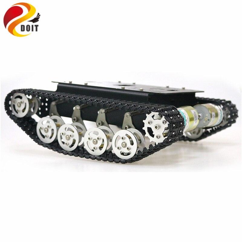 TS100 amortisseur métal Robot réservoir voiture Kit châssis pour Arduino uno r3 framboise chenilles chenille système de suspension - 5