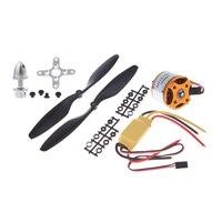 A2212 1000KV Brushless Outrunner Moteur + 30A ESC + 1045 Hélice (1 paire) Quad-Rotor Ensemble pour RC Multicopter Aéronefs