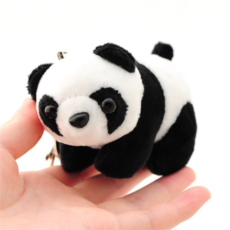 New Small 9cm Panda Keychain Pendant Cute Kawaii Quality Baby Children Plush Toys Hot Sell Kids Toys for Children Keychain gift(China)