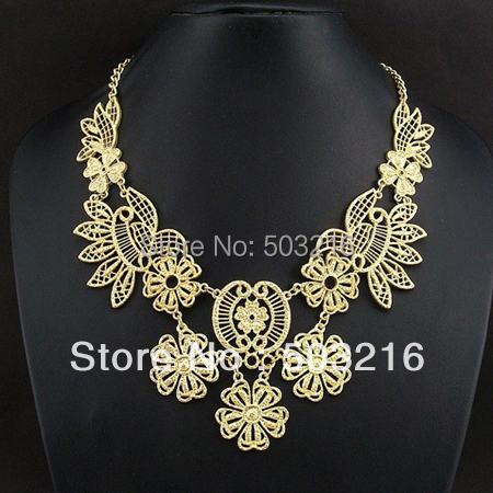 Free Shipping High Quality Fashion Jewelry Golden Necklace Valentine's Gift