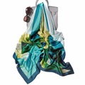 Longo Lenço de Duas Cores Geometria Impresso Glitter Lurex Stripe Scarf Longo Hijab Muçulmano Hijab lenço de Seda Lenços de marca de luxo 90*180 CM