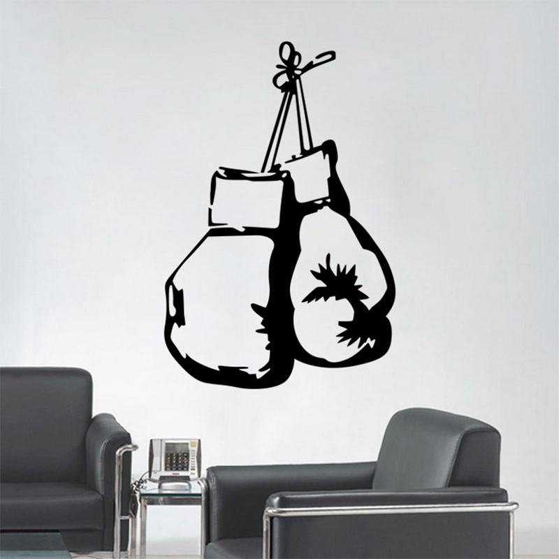 Cool Boxing Gloves Fighting Sports Wall Mural Sticker