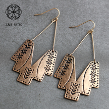 HE002 Fashion Drop Earrings For Women Vintage Dangle Earrings High Quality Statement Pendientes Fashion Jewelry Female Gifts wooden silver earrings for women vintage jewelry dangle pendientes 2020 female hanging statement fashion drop earrings gifts