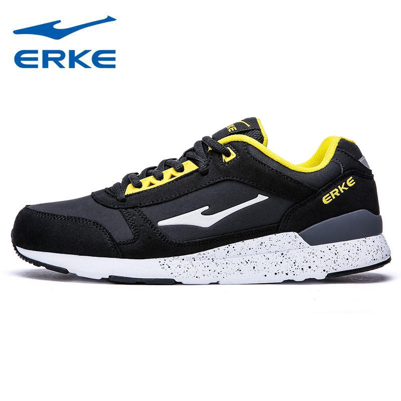 ERKE Mens Sports Shoes Running Sneakers For Men Synthetic Leather Sport Outdoor Running Jogging Run Shoes Sneaker Man Runners 2016 sale hard court medium b m running shoes new men sneakers man genuine outdoor sports flat run walking jogging trendy