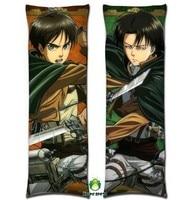 Free Shipping Anime Dakimakura hugging pillow case jr012 Attack on Titan Levi Rivaille Eren Jaeger