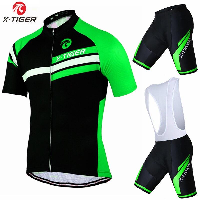 Prix pour X-Tigre Marque Pro Vélo Ensemble VTT Vélo Vêtements Maillot Ropa Ciclista Vélo Vêtements D'été Sportswear Hommes Ciclismo Maillots