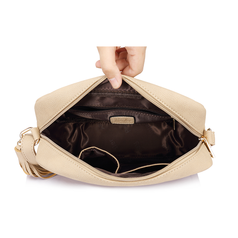 80beb89f00ee REALER brand small shoulder bag for women messenger bags ladies retro PU  leather handbag purse with tassels female crossbody bag