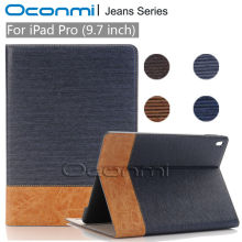 High quality Jeans Wallet leather case for Apple iPad Pro 9.7 inch new cover for ipad pro 9.7 stand tablet cover sleeves