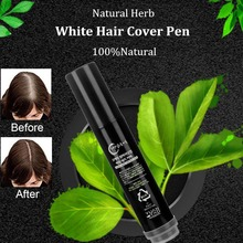 Natural Herb White Hair Cover Pen Professional Hair Color Hairline Cover Stick Quick Drying Long-Lasting Temporary Cover Pens