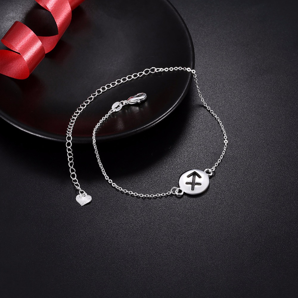 Hollow Piercing heart charms Anklets feet wear romantic 925 original Silver Creative life safe chains Female