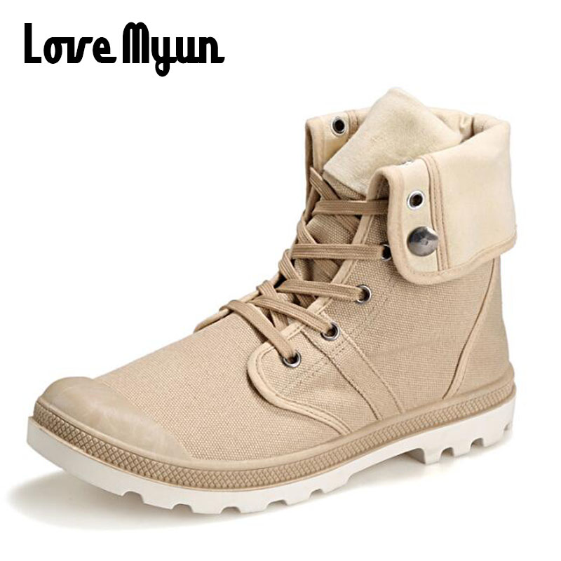New Arrival 2018 High Quality Men Canvas Shoes Flats Casual Sneakers High Top Men Martin boots  ALL black Zapatos Hombre  LL-30