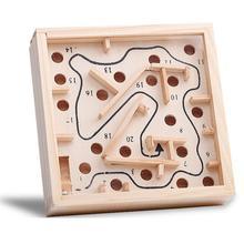 Мини деревянная доска лабиринта игра мяч в лабиринте головоломки игрушки ручной работы 11,5*11,5 см детские развивающие игрушки антистрессовая игрушка WYQ