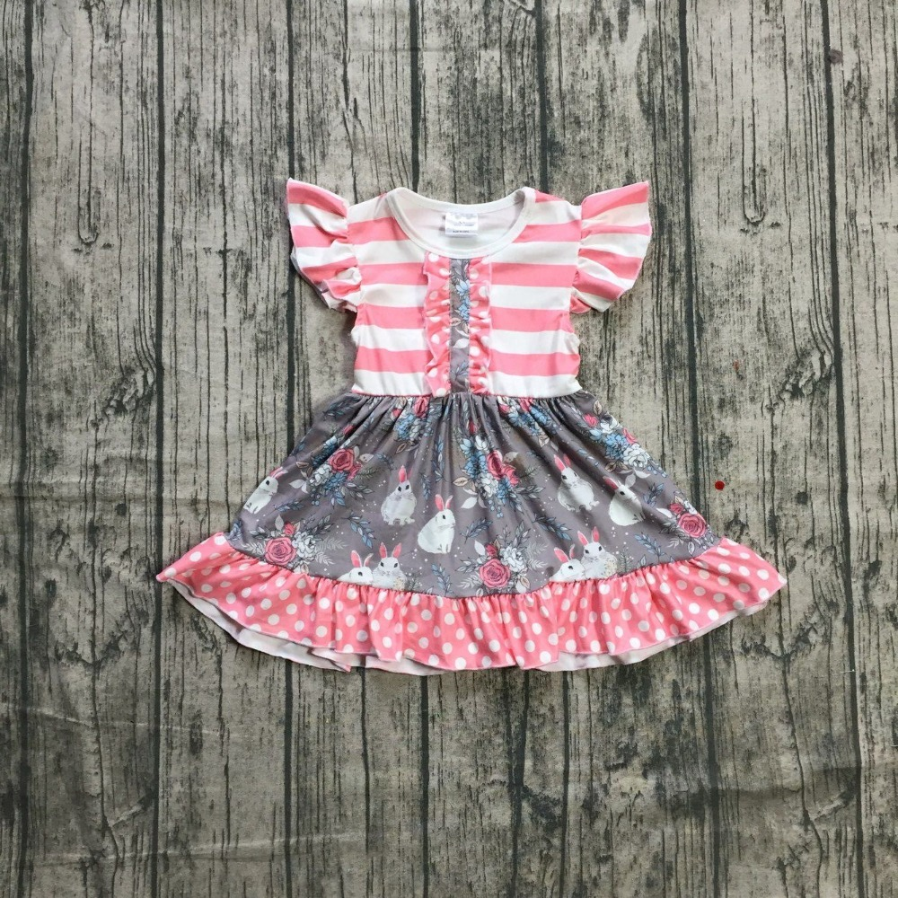 be34a9c7c0025 US $8.99  Aliexpress.com : Buy New baby girls Summer dress girls Easter  party dress grey dress girls bunny dress summer dress milksilk dress with  ...