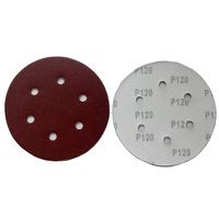 25PCS Set Sander Grits Polisher 6 Inch 6 Holes Circle Round Sand Paper Film Disc 150mm