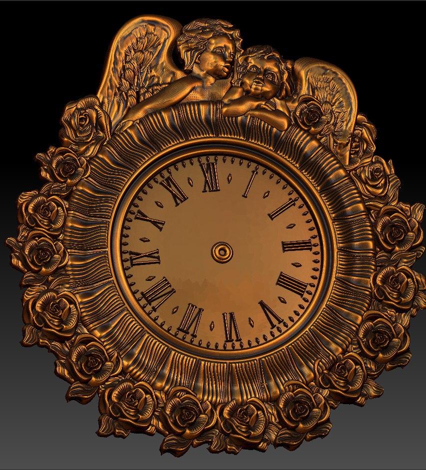 Digital File In STL Format Clock For CNC 3D Relief Carving Engraving C36-30