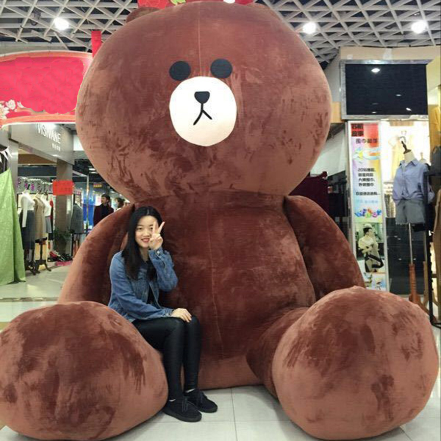 Giant Plush Stuffed Brown Bears Animals Ty Doll Kids Baby Soft Toys For Children Pillow Peluches Halloween Decoration 50T0099 cute 45cm stuffed soft plush penguin toys stuffed animals doll soft sleep pillow cushion for gift birthady party gift baby toy