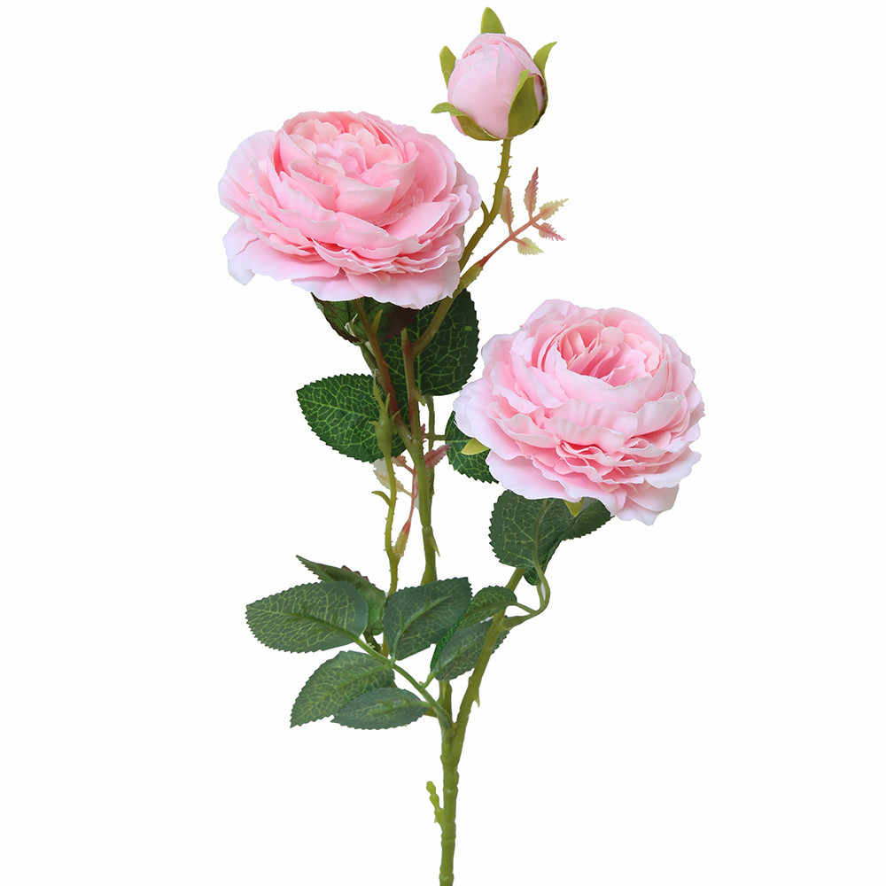 Seide Künstliche Gefälschte Western Rose Blume Pfingstrose Braut Bouquet Hochzeit Klassischen Europäischen Stil Hohe Realistische Aussehen 19MAR5