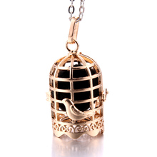 New Aroma Diffuser Necklace Gold vintage bird cage open cage Pendant Perfume Essential Oil Aromatherapy Locket Pendant Necklace new aroma diffuser necklace open antique vintage lockets pendant perfume essential oil aromatherapy locket necklace with pads
