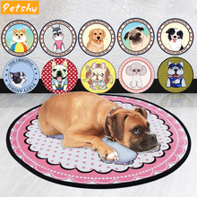 Petshy Pet Carpet Kennel Mat Dog Beds Cartoon Round Four Seasons Universal Small Large Dogs Cats Rest Sleeping Mats Cushion