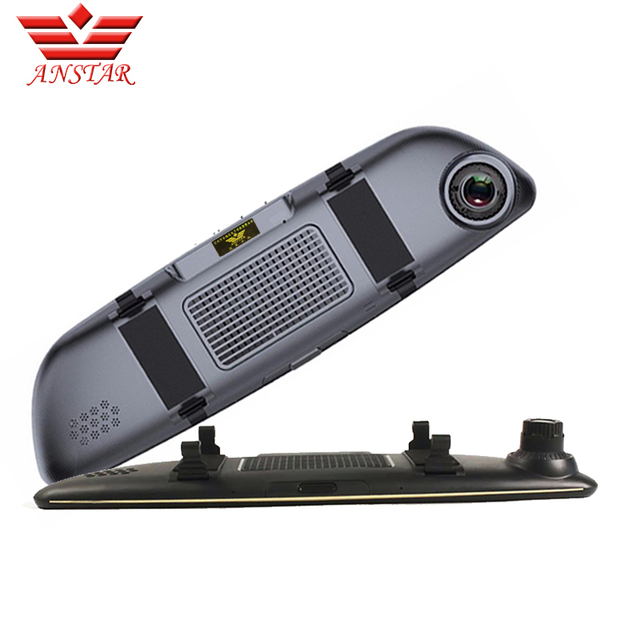 3G Dual Lens Rearview Car DVR Camera GPS Bluetooth Mirror Video Recorder 7 inch FHD 1080P