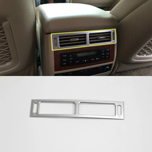 Car Accessories Interior Decoration ABS Rear Air Vent Outlet Cover Trims For Toyota Land Cruiser 2016 Car Styling car accessories interior decoration abs head lamp adjustment buttons cover trims for toyota land cruiser 2016 car styling