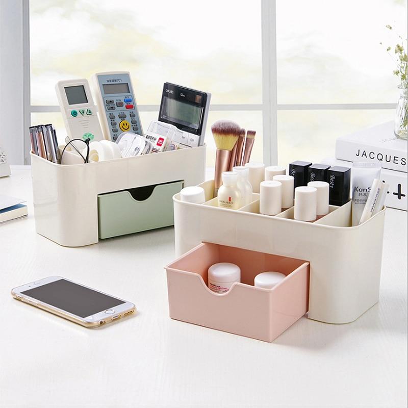 Multilayer Storage Plastic Shelf Desk Pen Holders Desk Supplies Organizers Desk Oraganier Set Stationery Pen Box Plastic