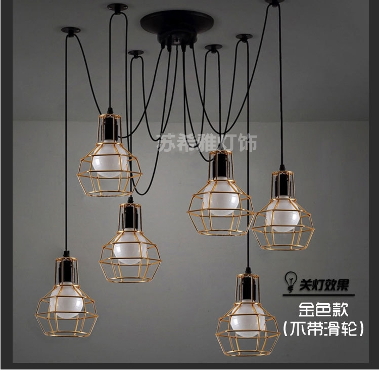 industrial design lighting. american village industrial retro iron chandelier creative personality pulley lift telescopic bar design lighting art n
