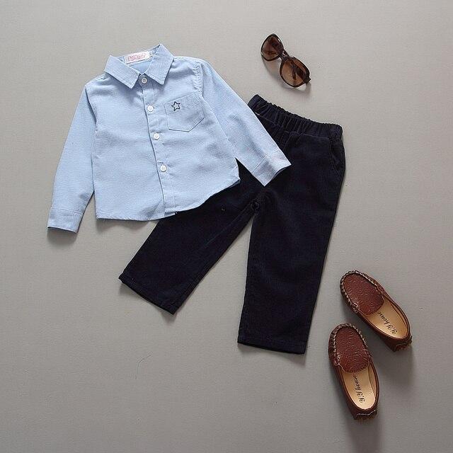 32a431e6dceab Bébé garçon vêtements 2016 printemps nouvelle marque Gentleman solide  vêtements costume pour nouveau-né bébé