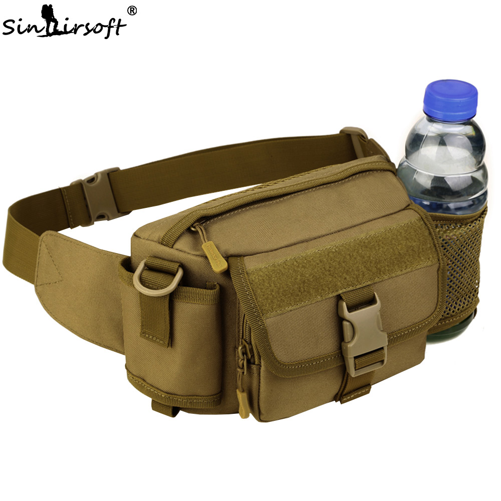 SINAIRSOFT Tactical Molle Bag Nylon Waterproof Waist Bag Outdoor Climbing Camping Hiking Fishing Sports Hunting Kettle Bags Belt 1000d nylon molle tactical hunting bags outdoor sport single shoulder bag men outdoor sport camping hiking hunting waist bags