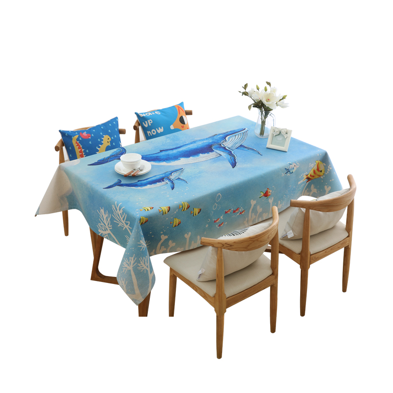 Nordic Small Fresh Cotton Linen Tablecloth Cute Cartoon Children 's Tablecloths Cloth Table Cloth Cover Towel