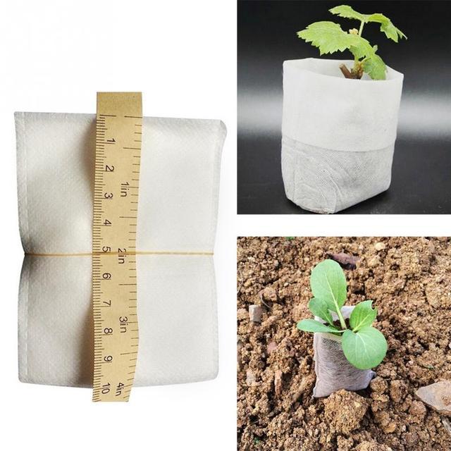 100Pcs/set Nursery Pots Seedling raising Bags 8*10cm Fabrics Garden Supplies