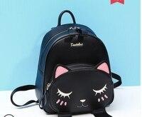 Принцесса Сладкая Лолита Сумка Весна и осень колледж Ветер сумка милый кот рюкзак Корейская версия Джокер дорожная сумка женская DML099