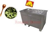 1 pan Ice cream rolls roller machine Rolled round pan fried ice cream frying machine