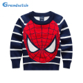 Grandwish Spring Autumn Winter New Boys Spidernan Pullover Sweaters Kids Strip Casual Long Sleeve Tops Boys Cloth 3T-10T, SC307