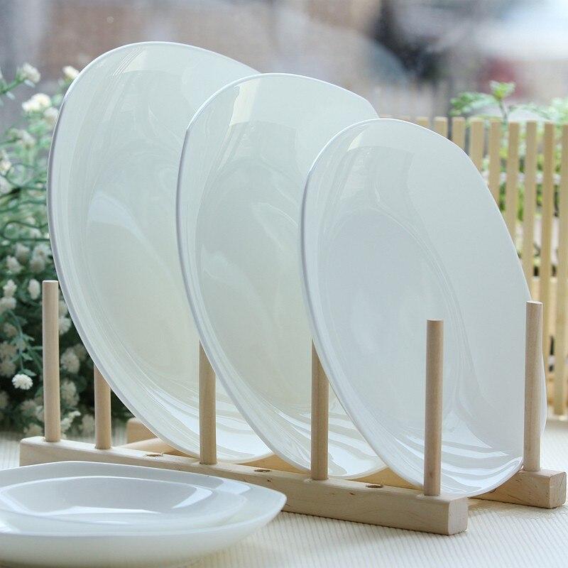 4 inch plain white bone china rectangular dish ceramic baby plate small sushi & 8 inch bone china deep dinner plate ceramic restaurant dinner ...