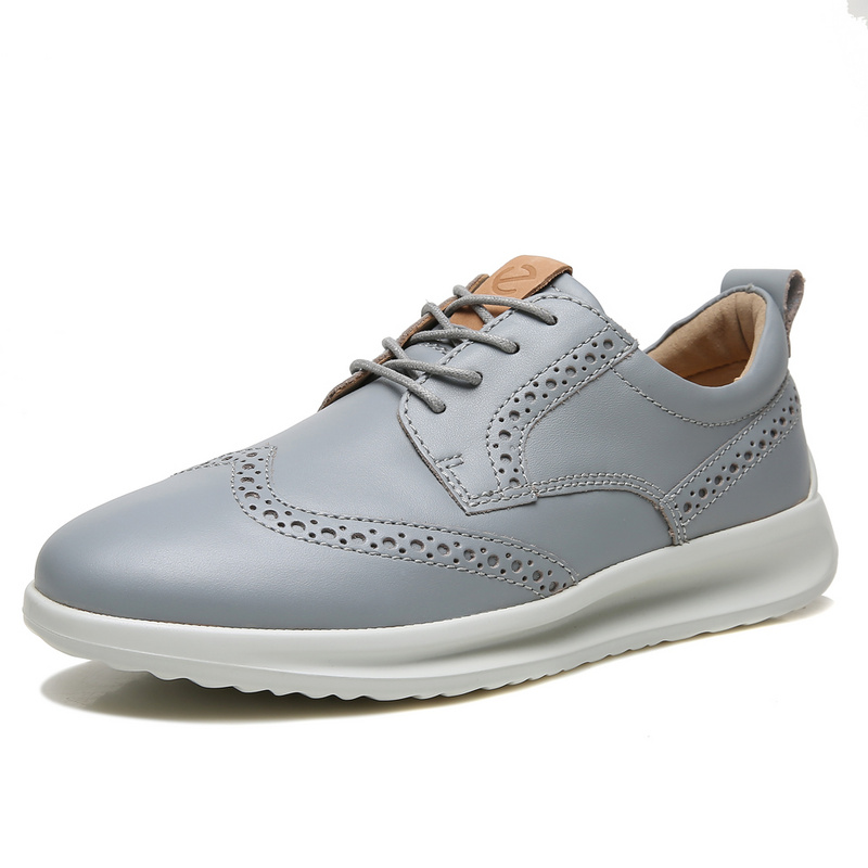 ECCO Fashion Brand Oxfords Shoes Men Genuine Leather Shoes Man Casual Shoes Black Brown Outdoor Casual Shoes 640004ECCO Fashion Brand Oxfords Shoes Men Genuine Leather Shoes Man Casual Shoes Black Brown Outdoor Casual Shoes 640004