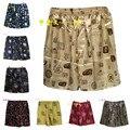 (1 Pçs/lote) de Seda Boxers Shorts, Pijamas de Seda dos homens, Roupa Interior impresso Homewear Homens Cuecas Tamanho L, XL, XXL Multicolor em estoque