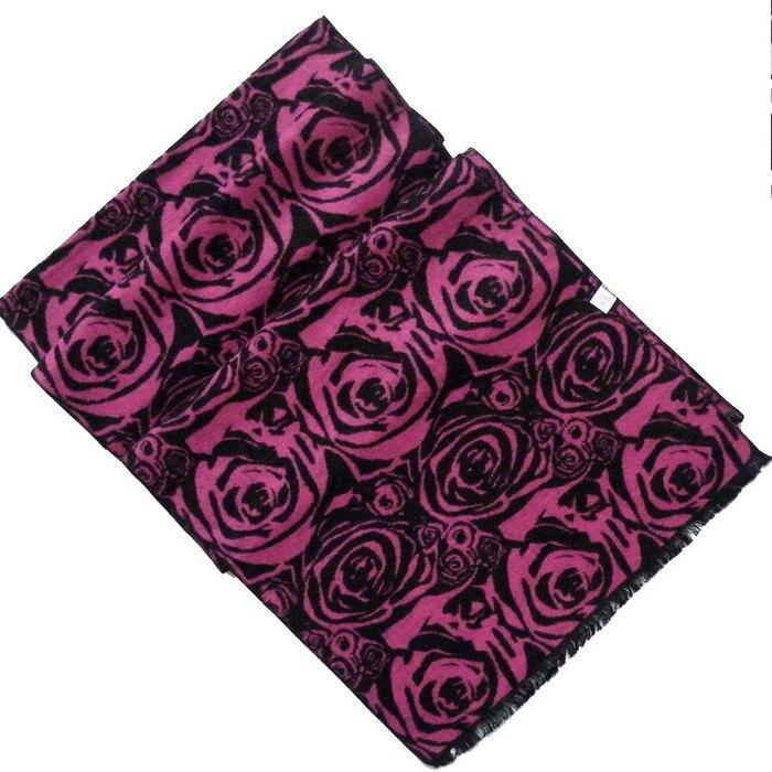 Универсальный шелковый шарф, шаль 180*30 см, Серый Черный Шелковый ворсистый шарф, зимний мужской большой клетчатый длинный шарф - Цвет: 19