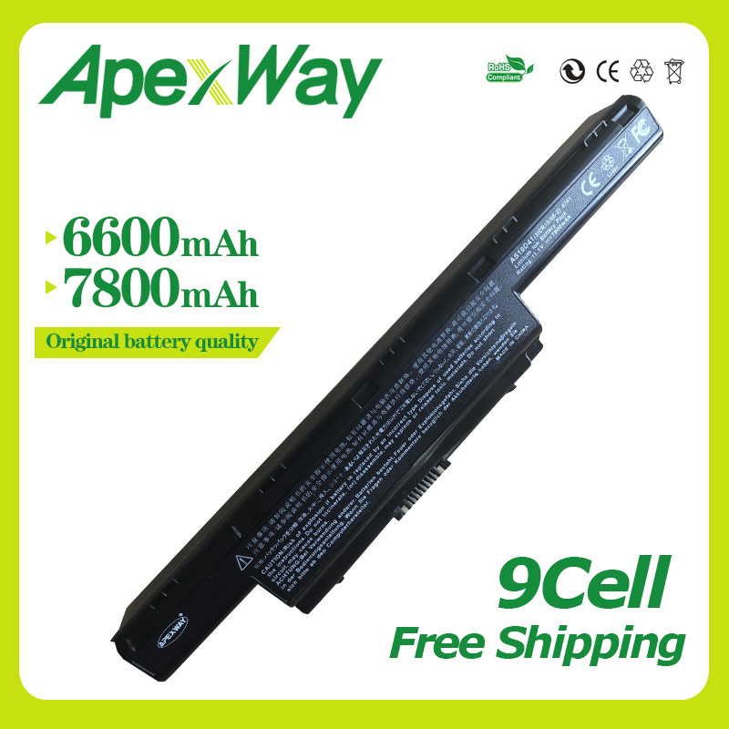 Apexway 9 Cell laptop Battery For Acer AS10D31 AS10D51 AS10D81 AS10D75 AS10D61 AS10D41 AS10D71 For Aspire 4741 5552G 5742 5750G